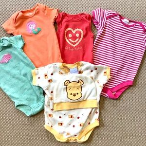 Lot of 5 Baby Onesies (6-9 Months)